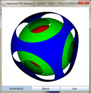 isosurface of sphere display