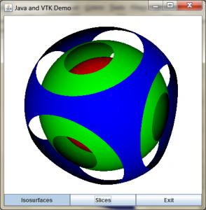 isosurface of sphere display