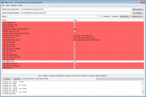 cmake customization screen