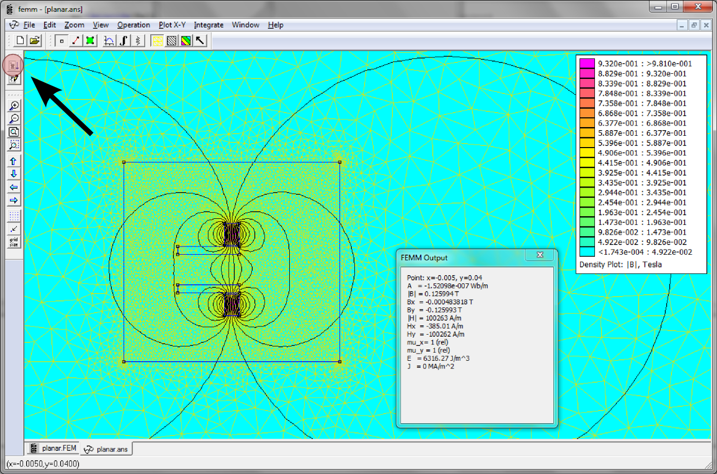 Exporting Magnetic Field from FEMM