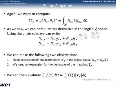 shape function derivatives