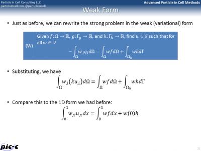 FEM weak form